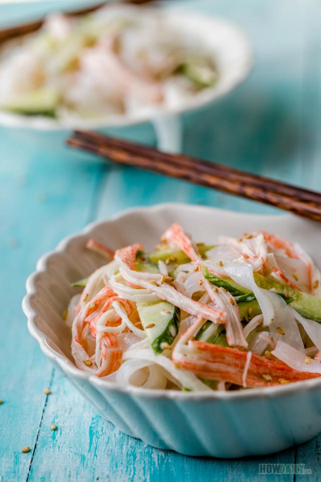 Shirataki noodles pasta salad