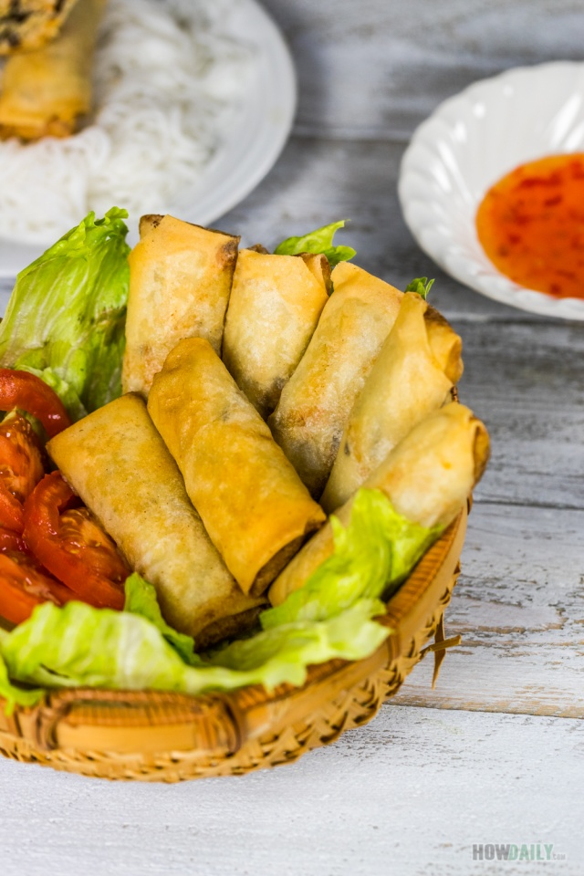 Homemade Combination Egg rolls