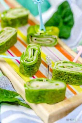 Green Eggs & Hams Pinwheels