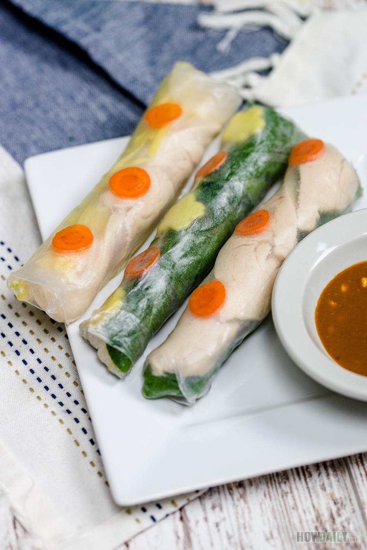 Chicken Mango Salad Rolls Recipe