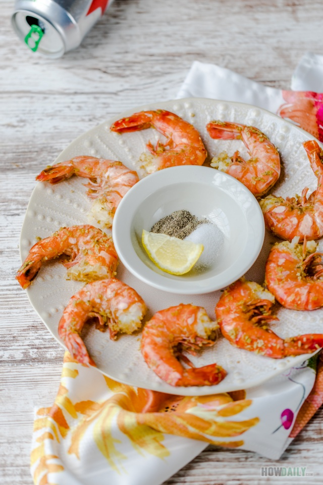 Steamed Shrimps with Beer