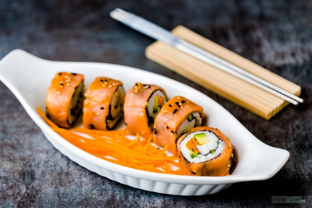 Sushi roll with Smoked Salmon