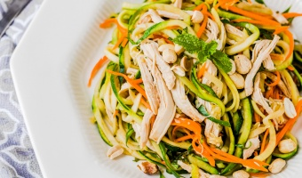 zucchini chicken noodle salad