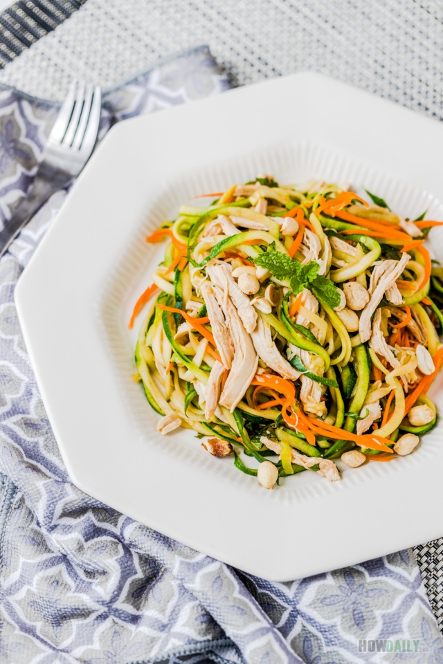 Zucchini Noodle Salad recipe with Chicken
