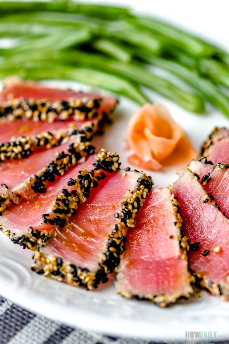 Light Seared Tuna Steak