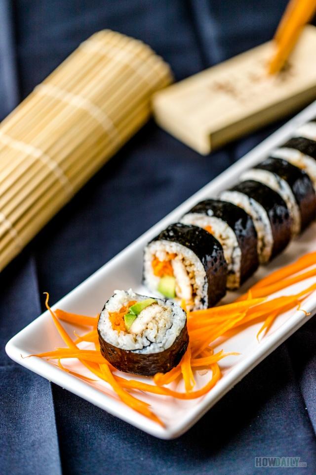 Marinade Tofu Sushi Roll