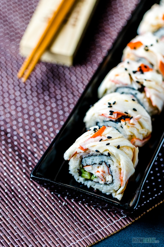 Snow Sushi Roll with imitation crab