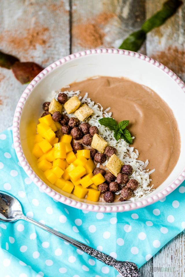 Cocoa Mango Smoothies Tofu Bowl
