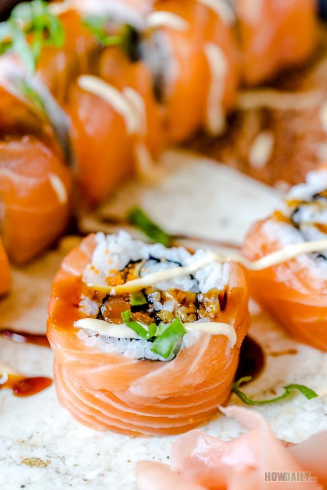 Salmon All Around Sushi roll